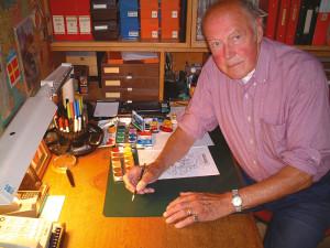 Jan Raneke i sin studio i Lomma.