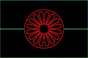Romska flaggan dimensioner