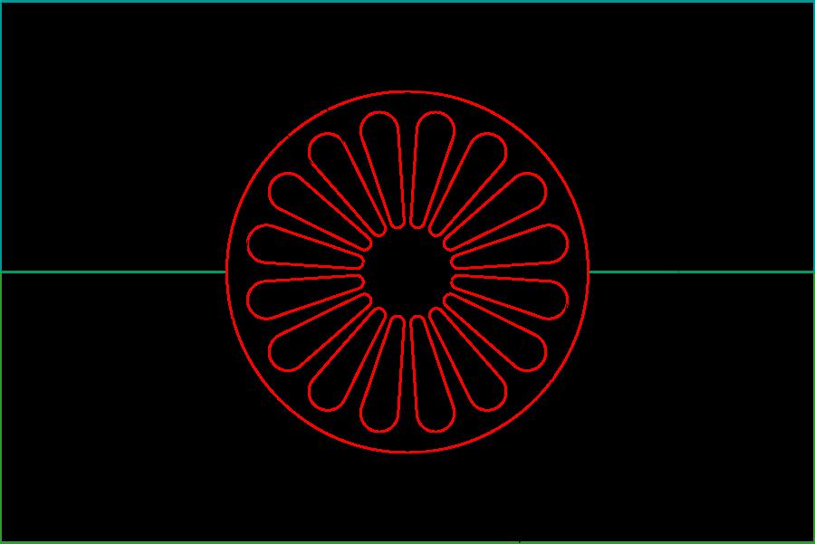Den Romska Flaggan Hissas Idag Heraldik