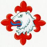 Claus K. Berntsens badge, ritad av Ronny Andersen.