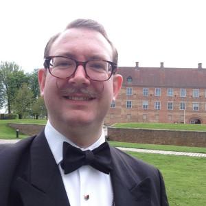 Claus K. Berntsen, innan banketten vid den 8:e Nordiska Heraldiska Konferensen i Sønderborg 2015.