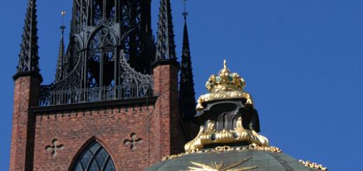 Riddarholmskyrkan är en kunglig grav- och minneskyrka. Här finns vapensköldar för avlidna riddare av Serafimerorden. Foto: Elias Andersson/Kungl. Hovstaterna.